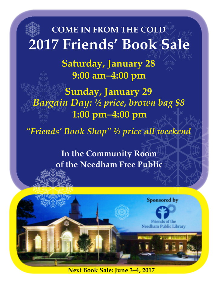 Book Sale Poster, January, 2017
