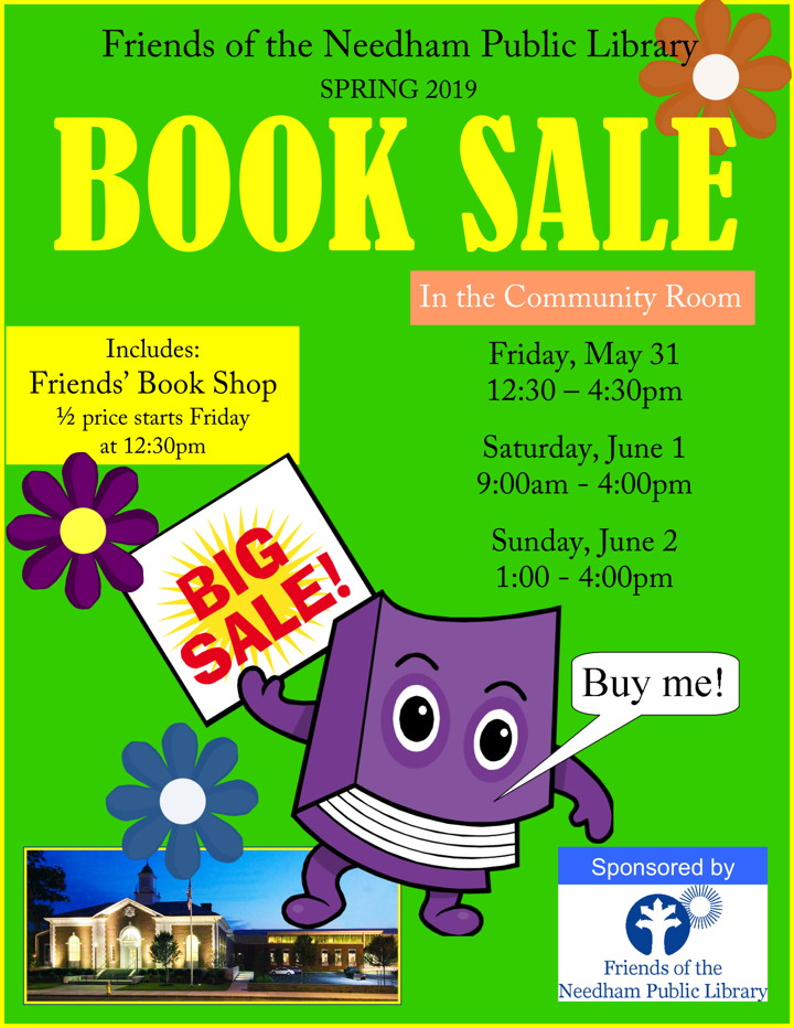 Book Sale Poster, January, 2019
